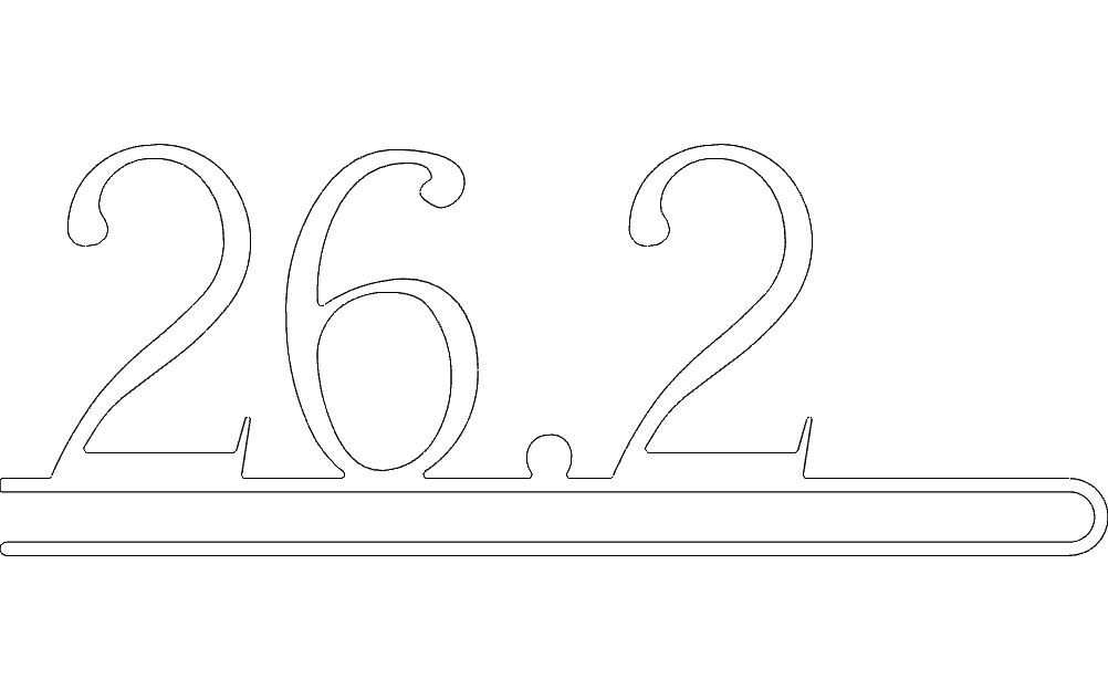 26.2 Number Free DXF File