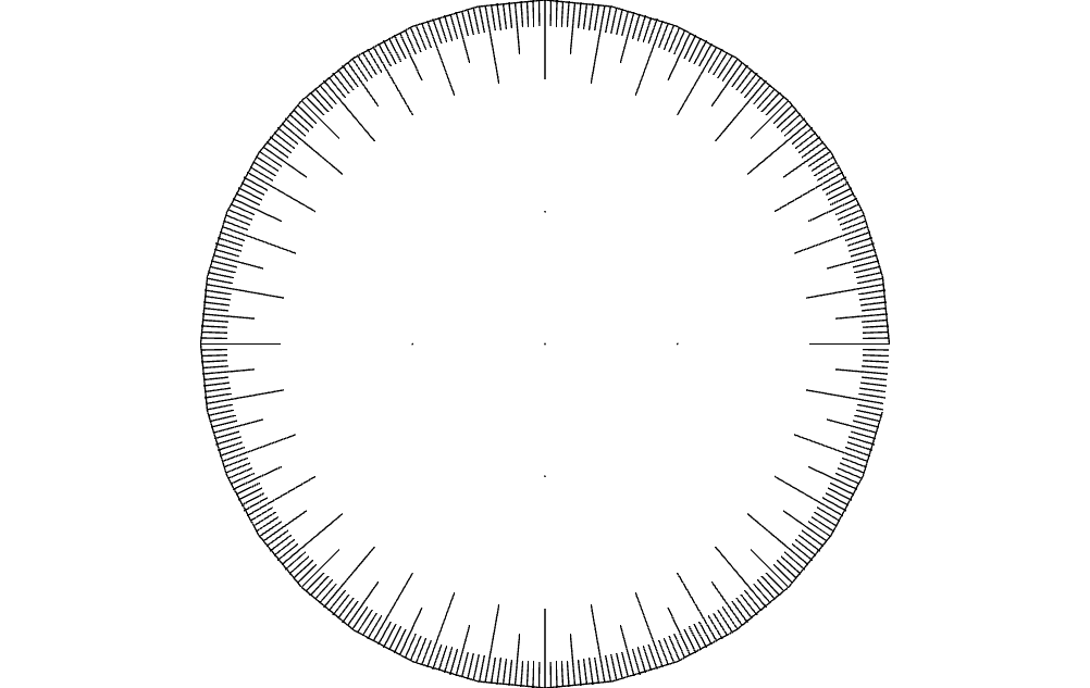 360 Wheel Free DXF File