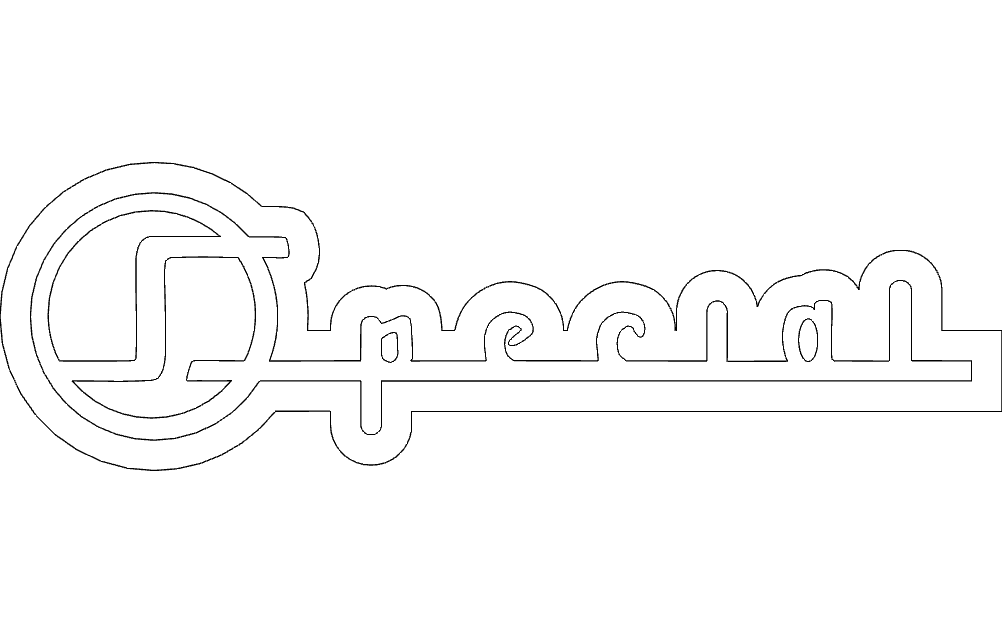 1955 Buick Special Side Logo Free DXF File