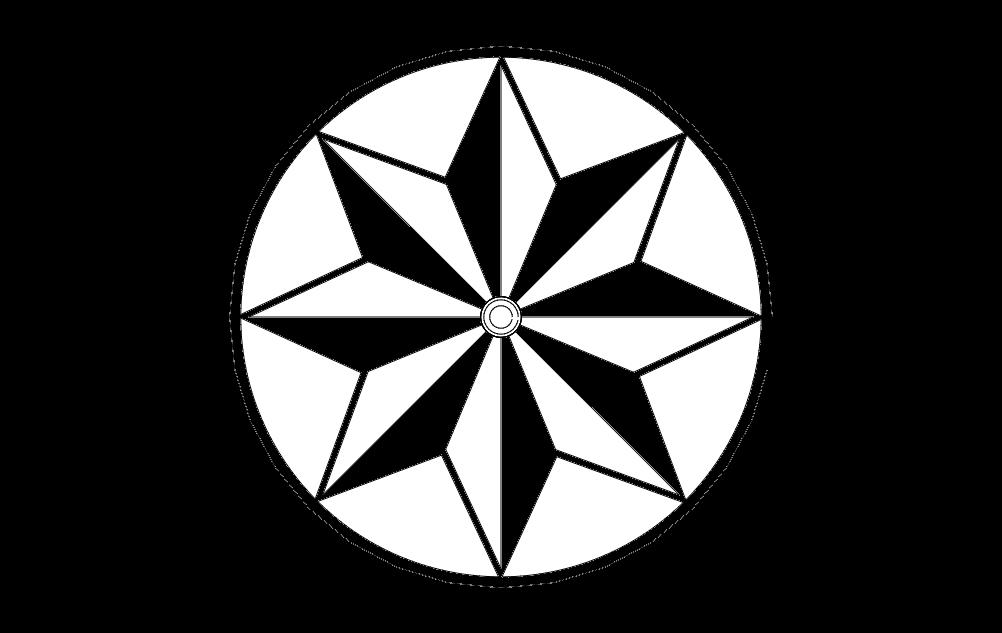 Barn Star Free DXF File