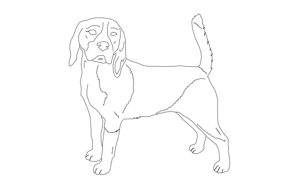 Beagle Good 2 Free DXF File