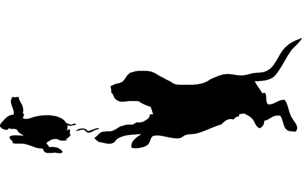 Beagle Rabbit Outline Free DXF File