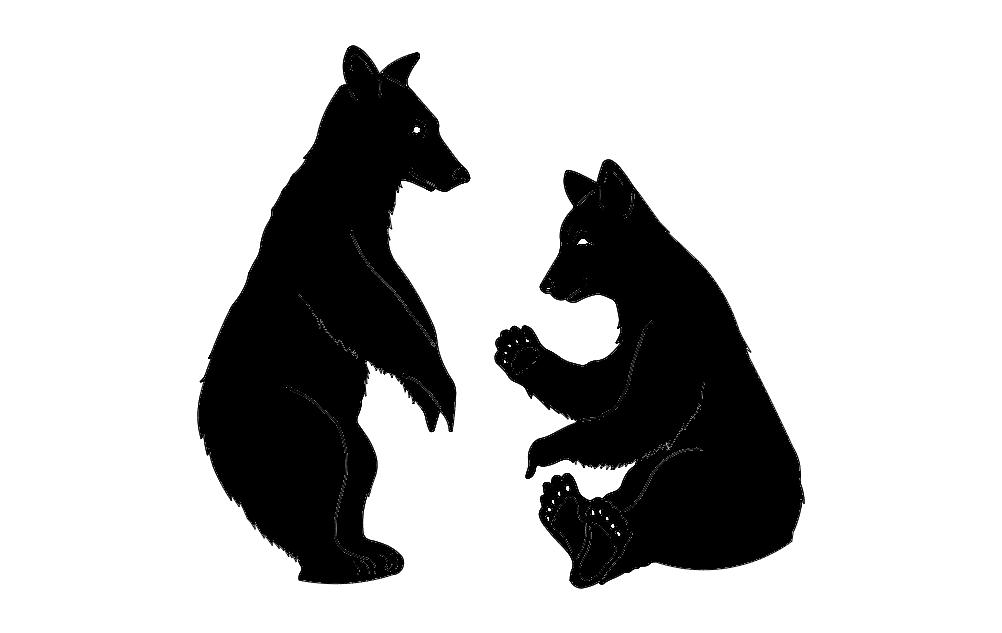 Bears 2 Free DXF File