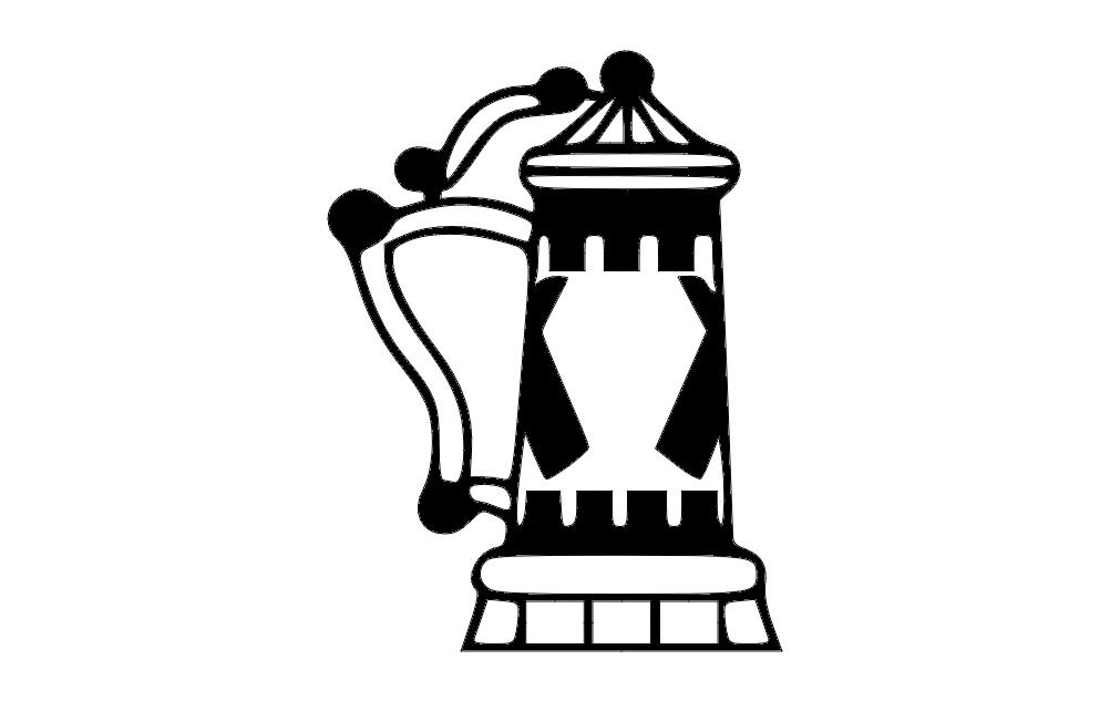 Beer Stein Free DXF File