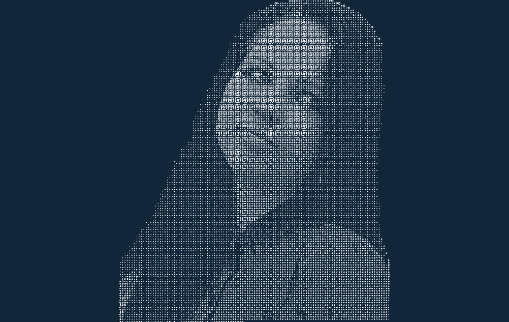 Cnc Halftone Girl Free DXF File