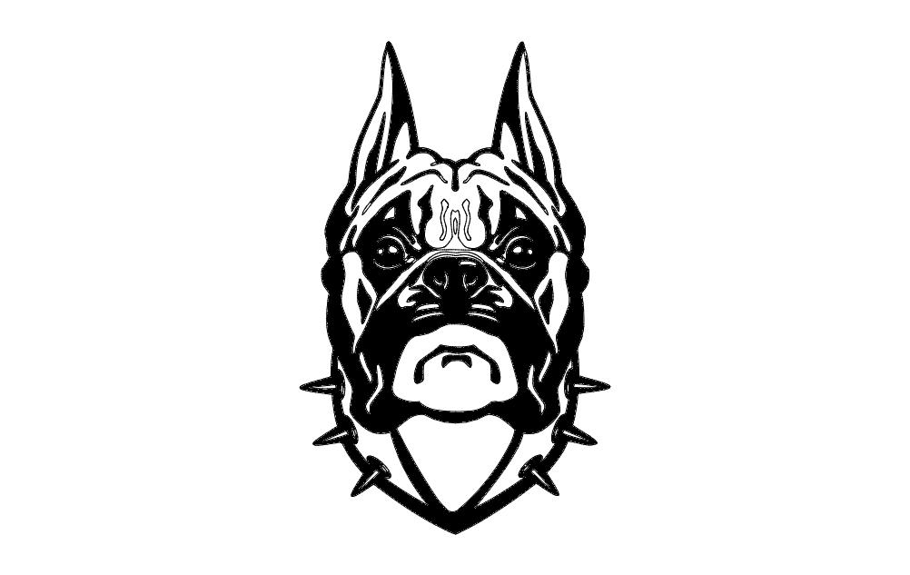 Dog Head Bd Free DXF File