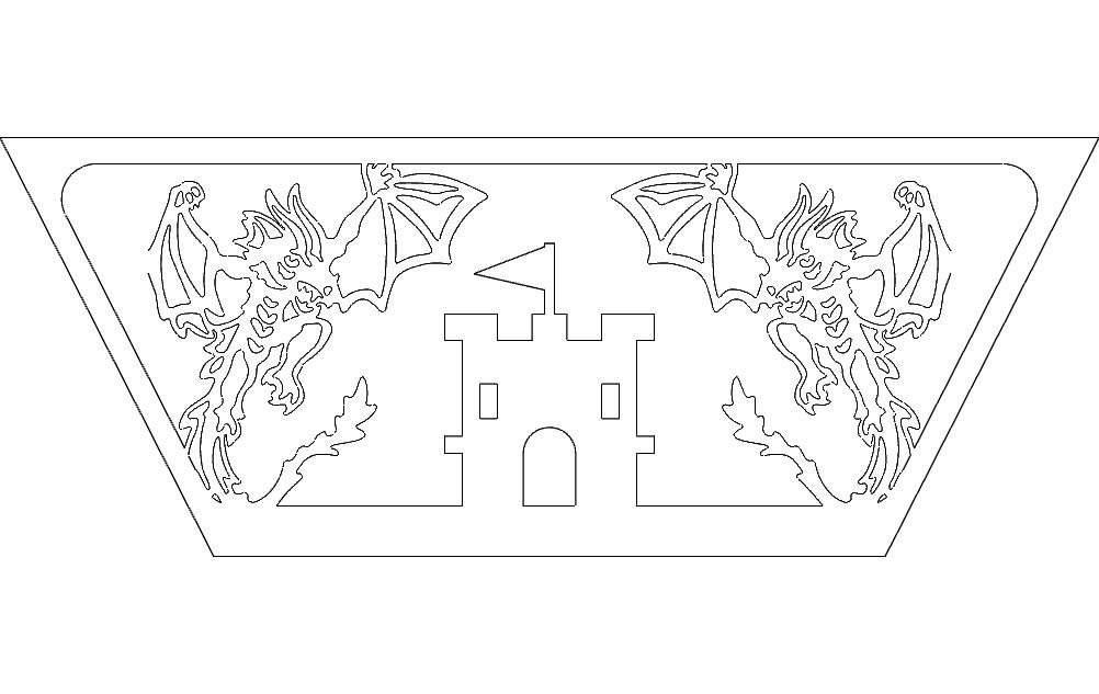 Dragon Side Free DXF File