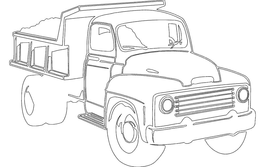 Dump Truck Free DXF File