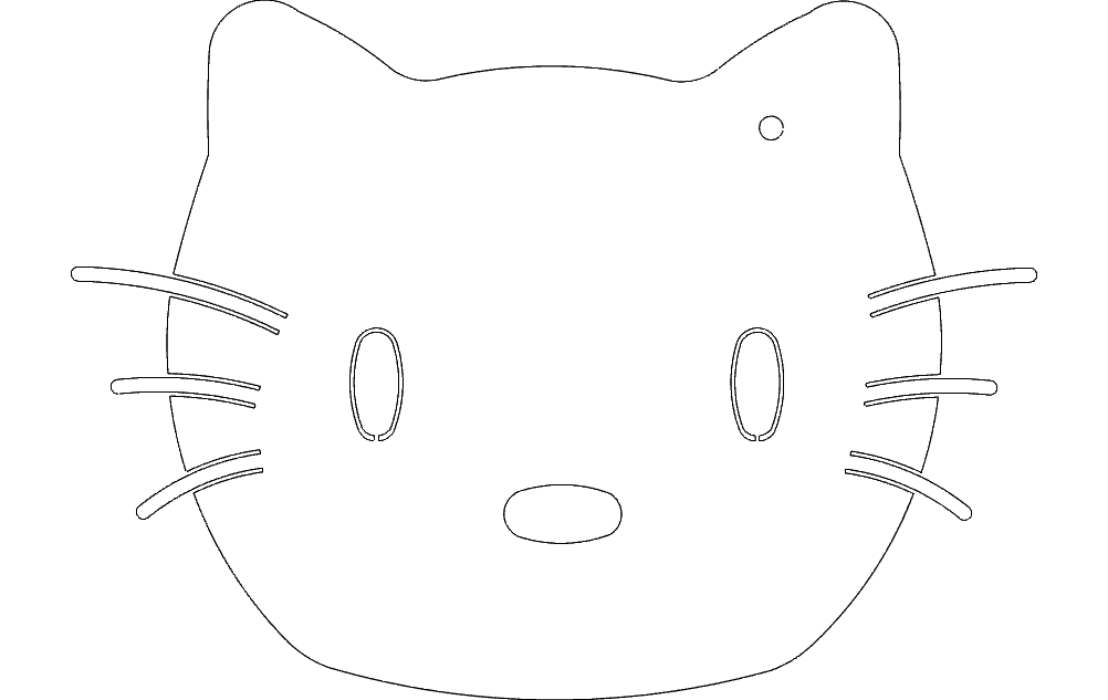 Hello Kitty Free DXF File