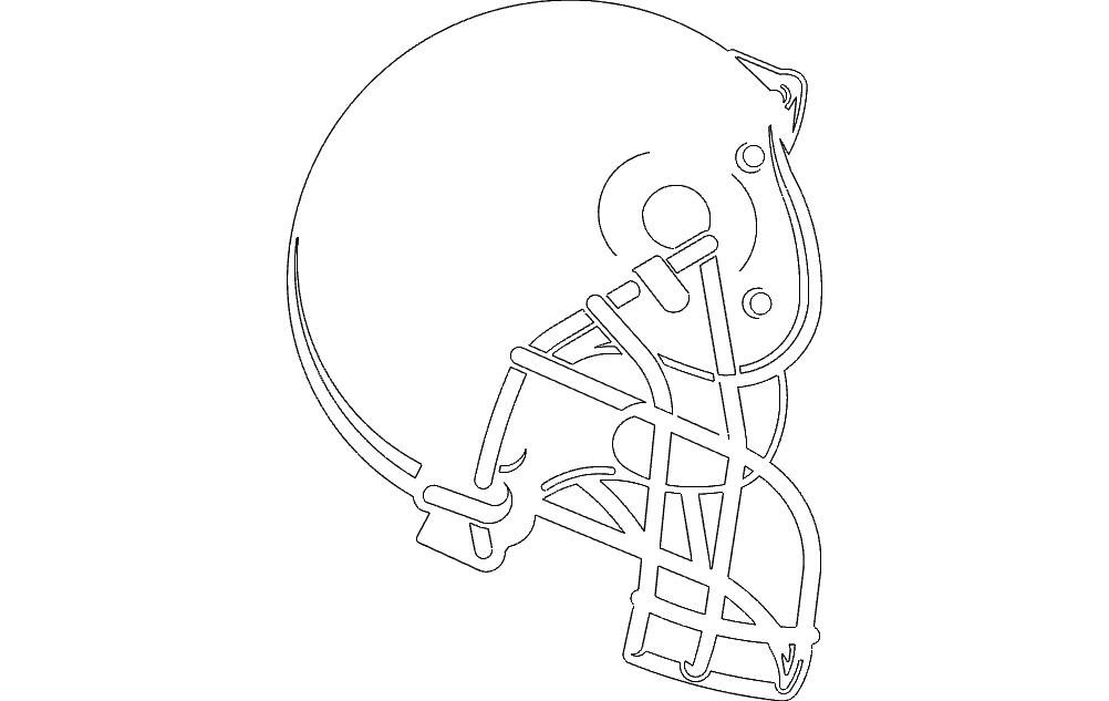 Helmet Boise Small Free DXF File