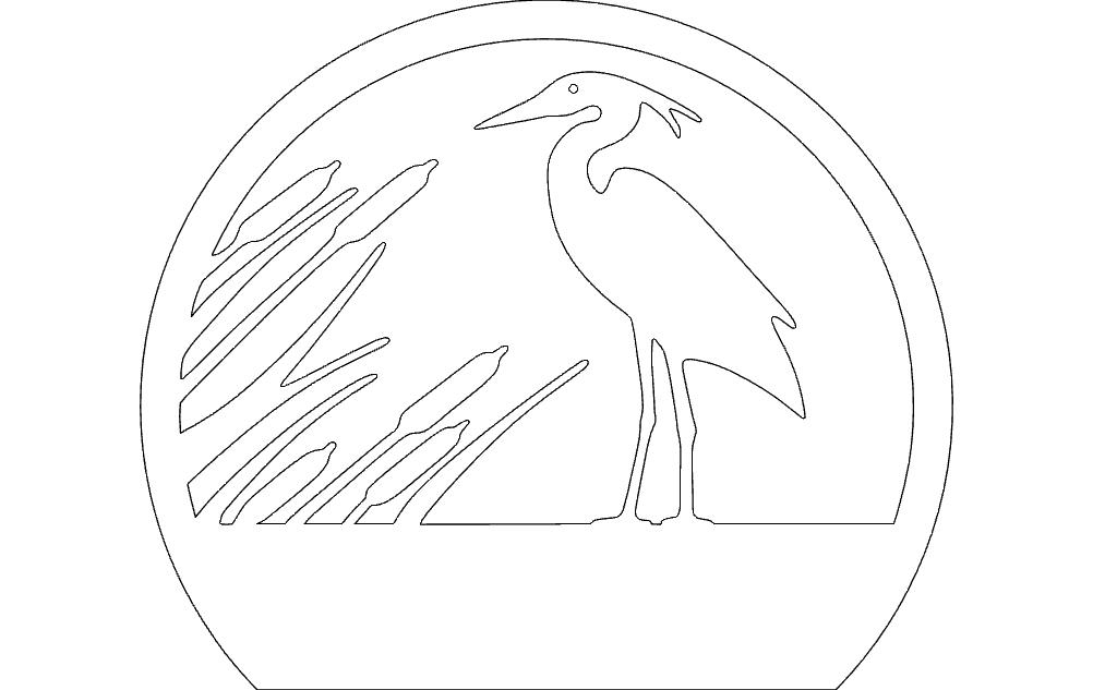 Heron Free DXF File