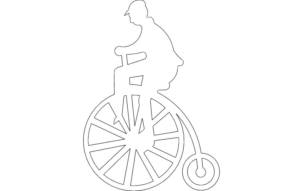 High wheeler Free DXF File