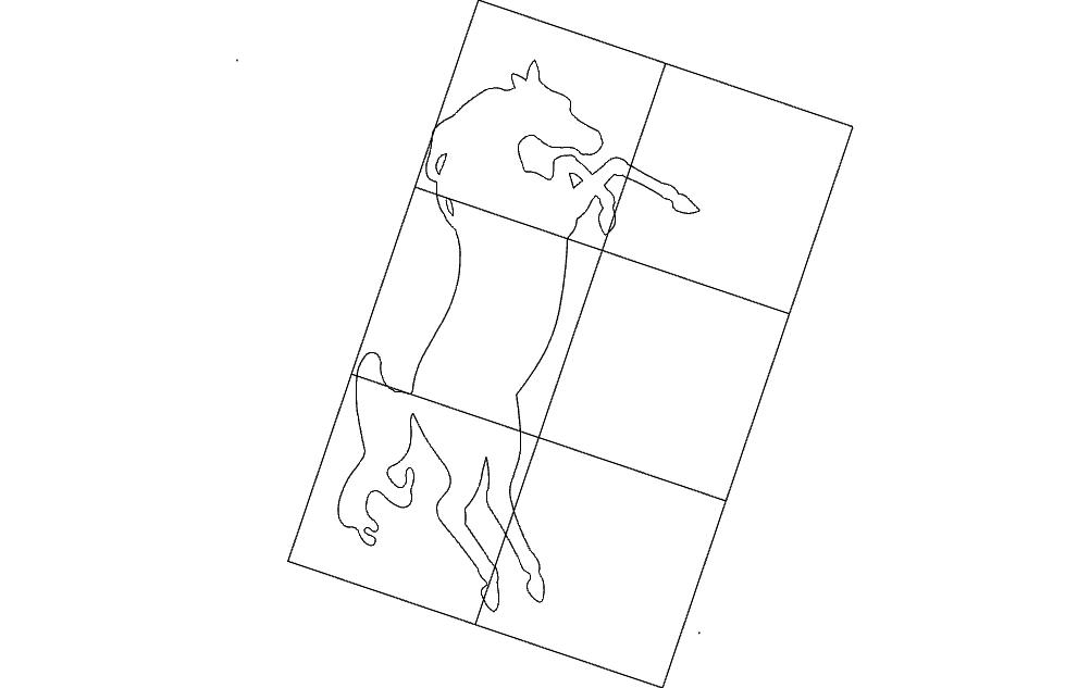 Horse Inside Frame Free DXF File