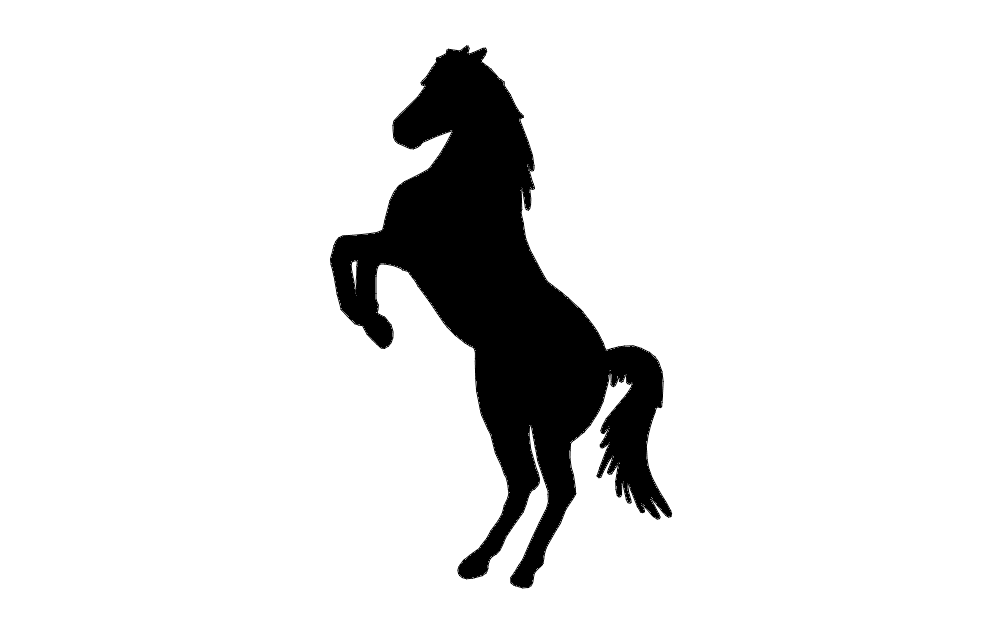 Horse Rearing Up Free DXF File