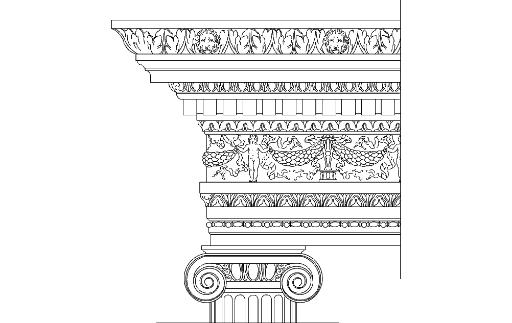 Ionic Order Ancient Greek Architectural Orders Free DXF File