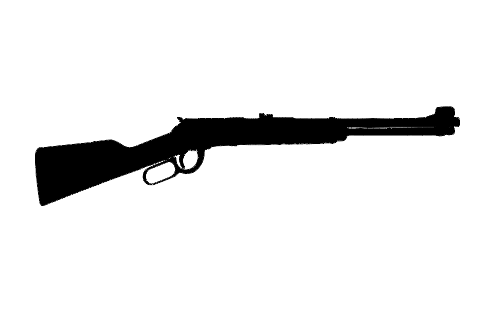 Lever Action Rifle Free DXF File