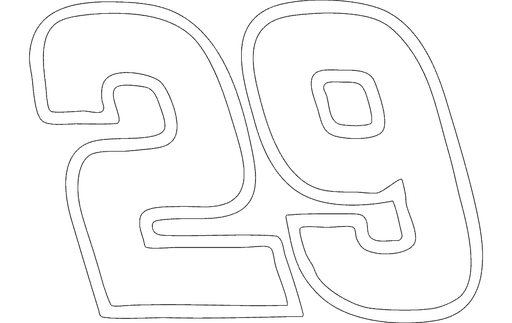 Numbers 29 Free DXF File