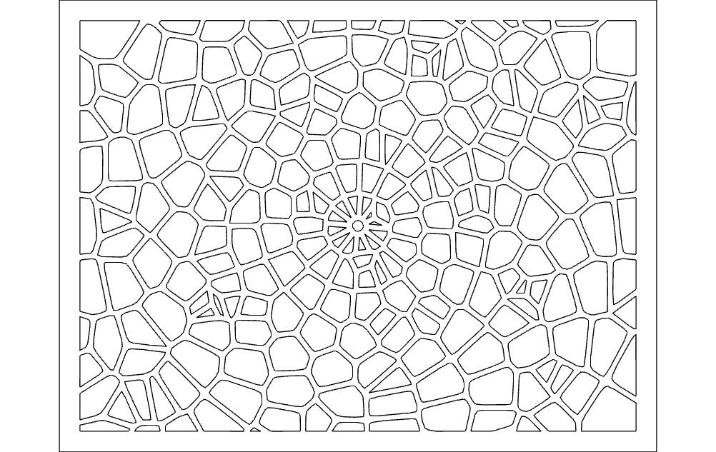 Voronoi Pattern 2 Free DXF File