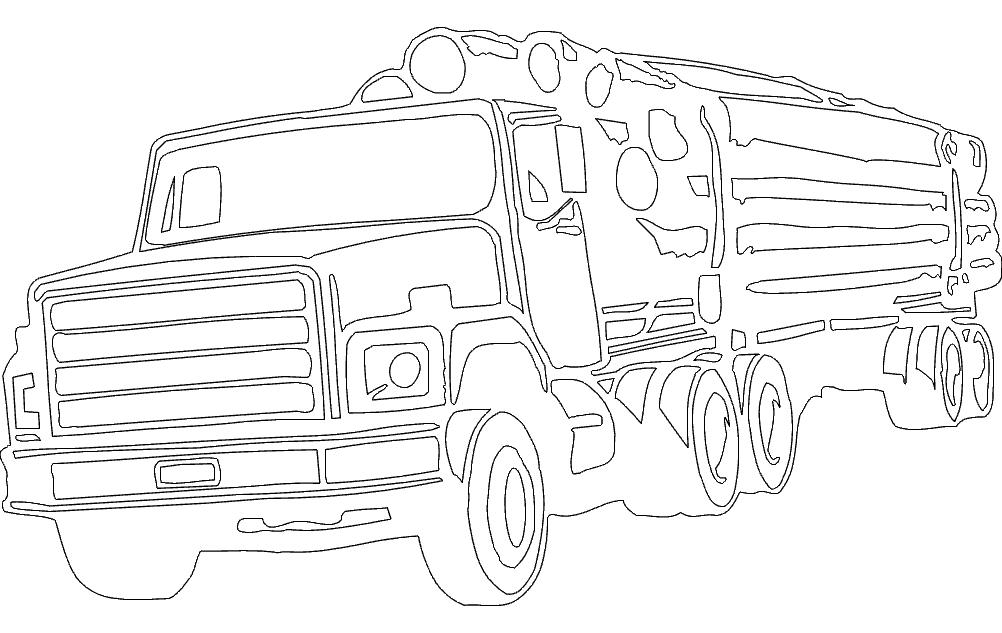 Wood Transportation Truck Free DXF File