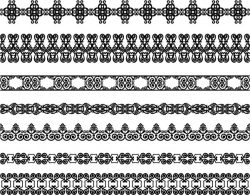 Border Pattern For Laser Engraving Machines Free DXF File