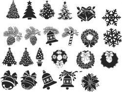 Decorations For Print Or Laser Engraving Machines Free DXF File