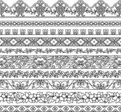 Contour Pattern For Print Or Laser Engraving Machines Free DXF File