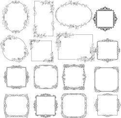 Creative Decorative Frame For Laser Cut Cnc Free DXF File