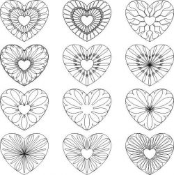 Decorative Heart Pattern For Print Or Laser Engraving Machines Free DXF File