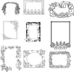 Frames For Engraving For Laser Engraving Machines Free DXF File