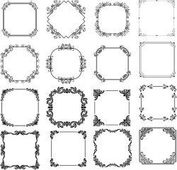Impressive Decorative Frame For Laser Cut Cnc Free DXF File