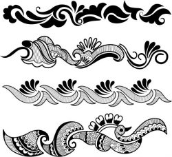 Traditional Indian Pattern For Laser Engraving Machines Free DXF File
