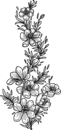 Beautiful Carved Flowers For Laser Engraving Machines Free CDR Vectors Art