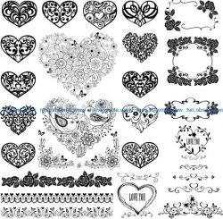 Cardiac Flower For Print Or Laser Engraving Machines Free CDR Vectors Art