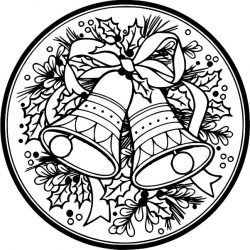 Bell Wreath For Laser Engraving Machines Free CDR Vectors Art