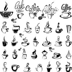 Coffee Icon For Print Or Laser Engraving Machines Free CDR Vectors Art