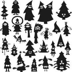 Funny Tree For Print Or Laser Engraving Machines Free CDR Vectors Art