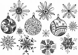 Snowflakes Decorated Tree For Laser Cut Free CDR Vectors Art