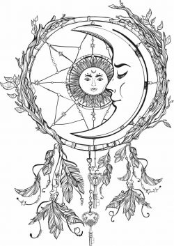 The Moon Embraces The Sun For Print Or Laser Engraving Machines Free CDR Vectors Art