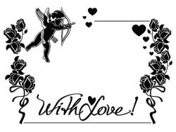 With Love For Print Or Laser Engraving Machines Free CDR Vectors Art
