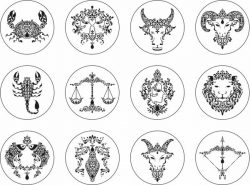 Zodiac Signs For Print Or Laser Engraving Machines Free CDR Vectors Art