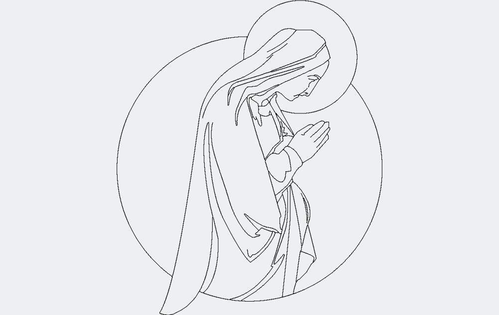 Virgin Mary Free DXF File