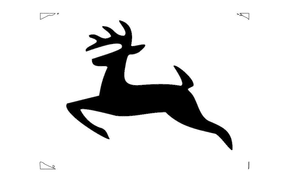 Jumping deer Free DXF File
