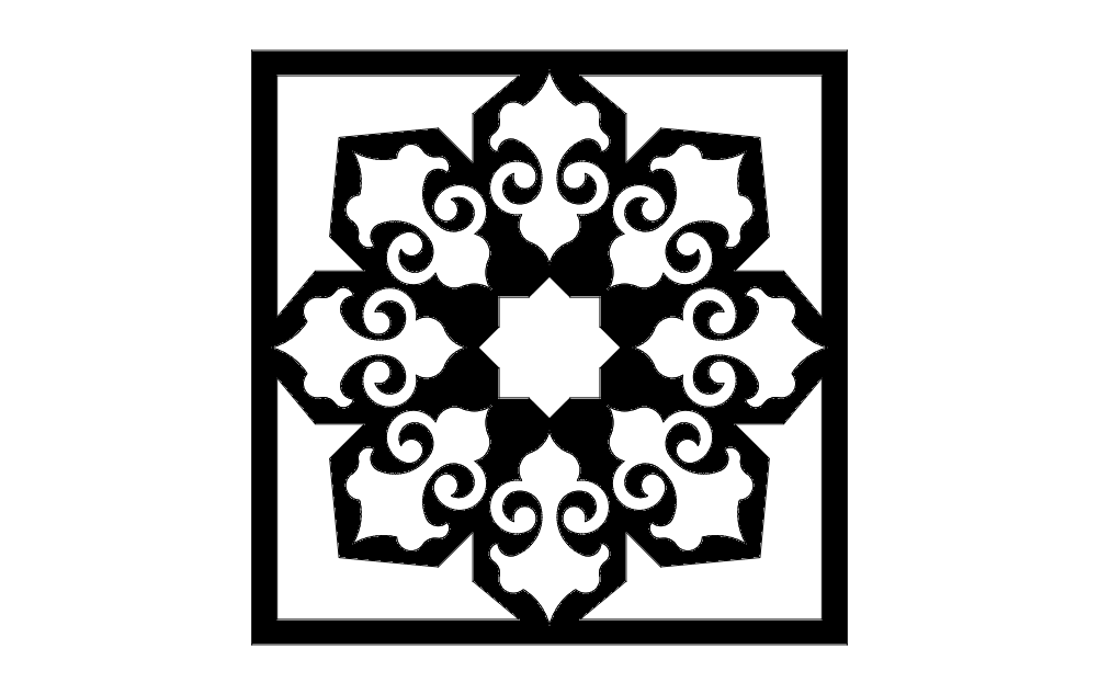 Islamic Pattern 5 Free DXF File
