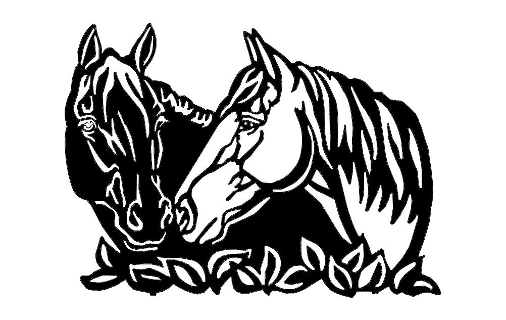 Horses Free DXF File