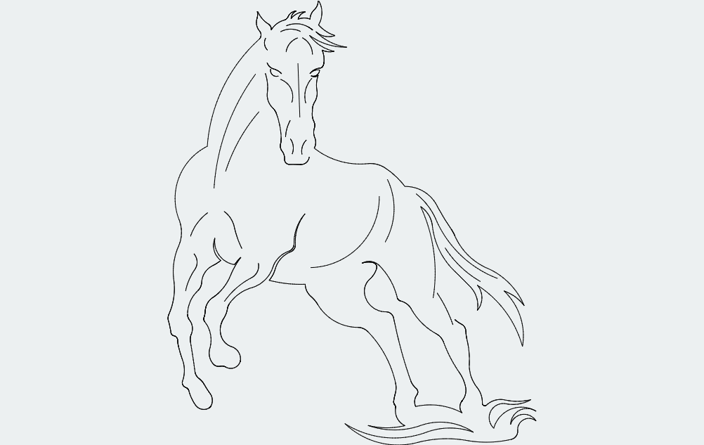 Horse Free DXF File