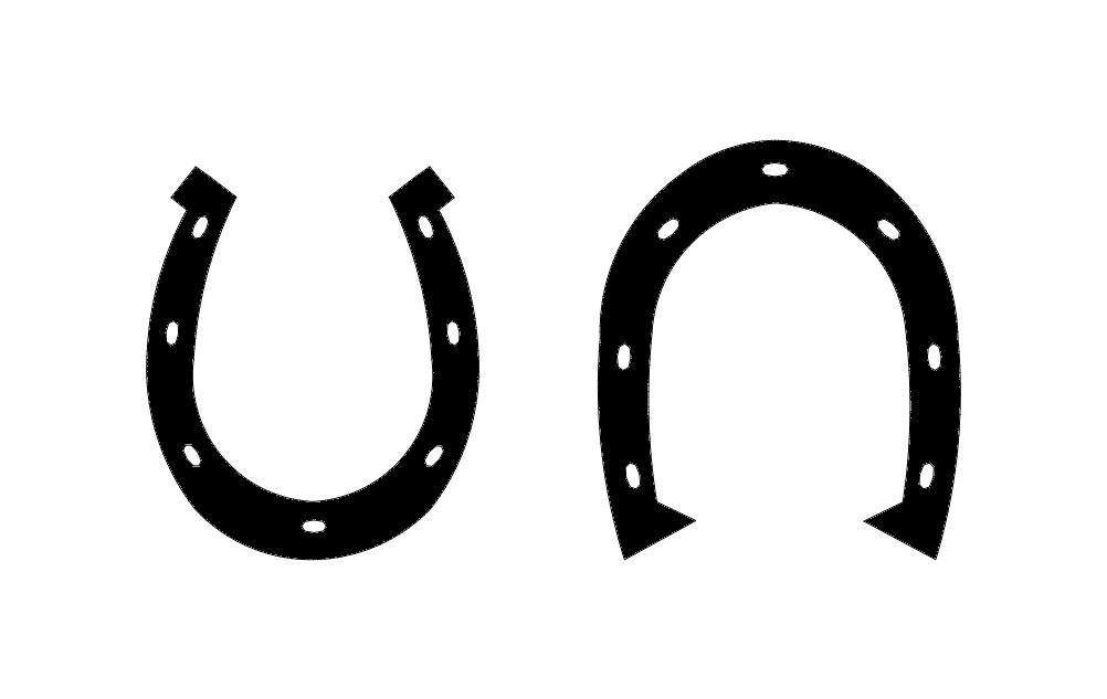 Horse Shoe 2 Free DXF File