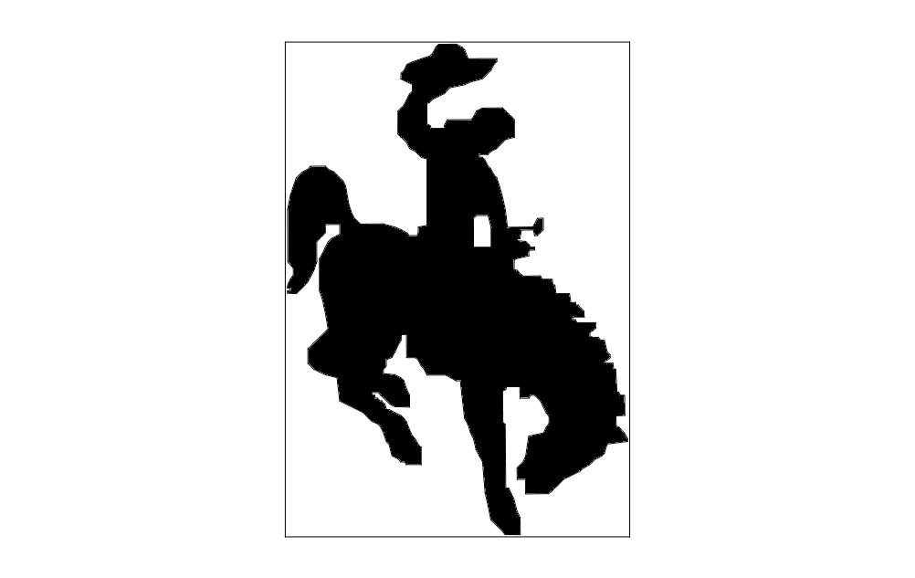 Horse And Rider Free DXF File