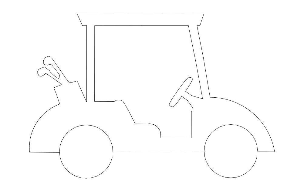 Golfcart Free DXF File