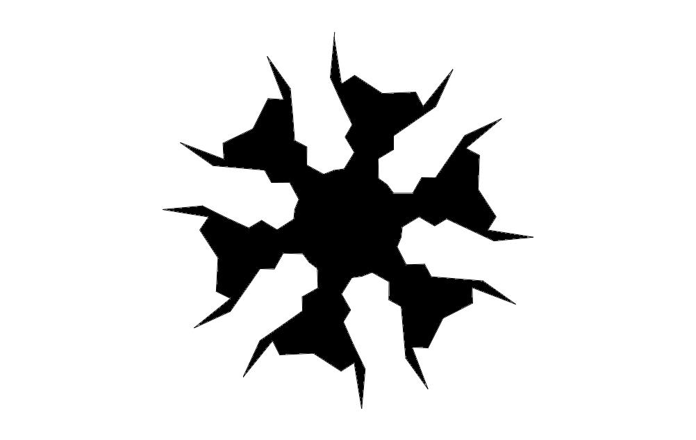 flake1xb Free DXF File
