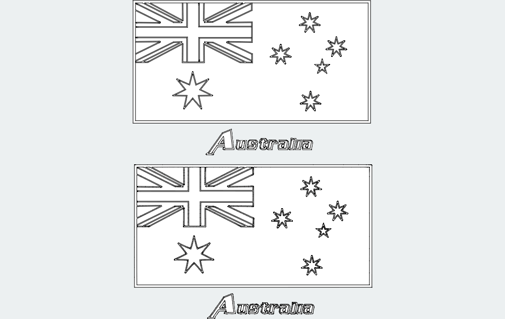 Flag Of Australia Free DXF File
